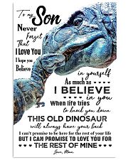 MOM TO SON - T REX - WHEN LIFE TRIES 16x24 Poster front