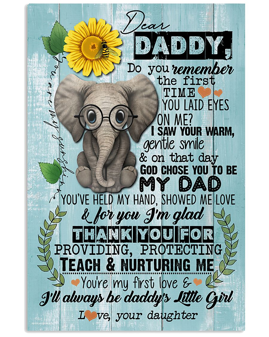 DEAR DADDY - ELEPHANT - THANK YOU 16x24 Poster