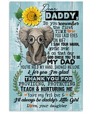 DEAR DADDY - ELEPHANT - THANK YOU 16x24 Poster front