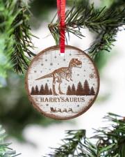Christmas - Tyrannosaurus Rex - Personalized Circle ornament - single (porcelain) aos-circle-ornament-single-porcelain-lifestyles-07