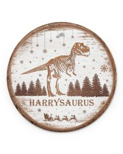 Christmas - Tyrannosaurus Rex - Personalized Circle ornament - single (porcelain) front