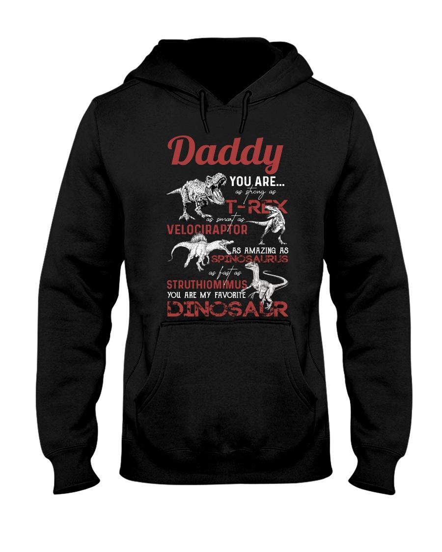 HOODIE - BLACK - FAVORITE DINOSAUR Hooded Sweatshirt