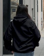 HOODIE - BLACK - FAVORITE DINOSAUR Hooded Sweatshirt lifestyle-unisex-hoodie-back-2