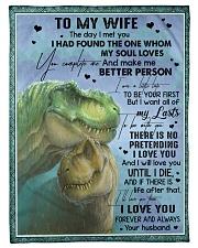 T rex - The Day I Met You - Fleece Blanket Fleece Blanket tile