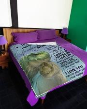 "T rex - The Day I Met You - Fleece Blanket Large Fleece Blanket - 60"" x 80"" aos-coral-fleece-blanket-60x80-lifestyle-front-01"