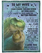 """T rex - The Day I Met You - Fleece Blanket Large Fleece Blanket - 60"""" x 80"""" front"""