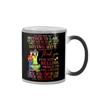 SON TO MOTHER-IN-LAW Color Changing Mug tile