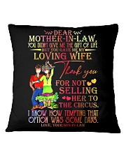 SON TO MOTHER-IN-LAW Square Pillowcase tile