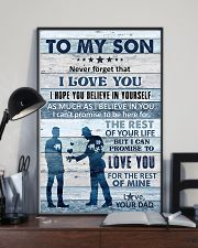 To My Son - Never Forget That I Love You - Poster 16x24 Poster lifestyle-poster-2
