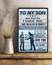To My Son - Never Forget That I Love You - Poster 16x24 Poster lifestyle-poster-3