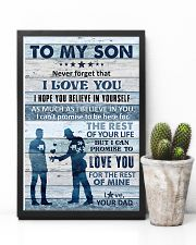 To My Son - Never Forget That I Love You - Poster 16x24 Poster lifestyle-poster-8