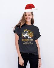 GRANDMASAURUS Classic T-Shirt lifestyle-holiday-crewneck-front-1