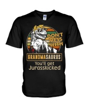 GRANDMASAURUS V-Neck T-Shirt thumbnail