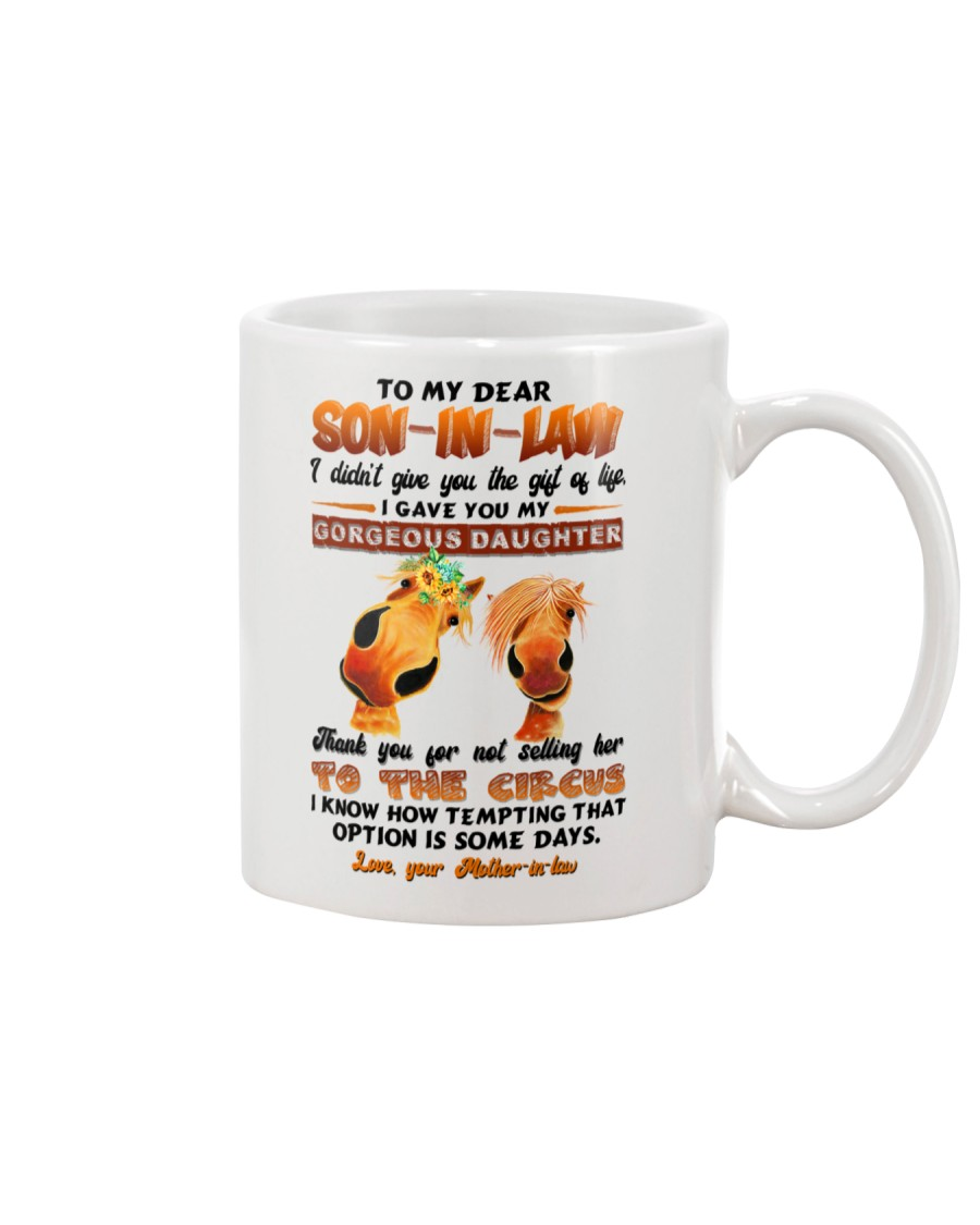 TO MY SON-IN-LAW - HORSE - CIRCUS Mug