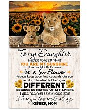 TO DAUGHTER - LION SUNFLOWER - NEVER FORGET THAT 16x24 Poster front