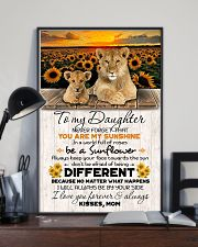 TO DAUGHTER - LION SUNFLOWER - NEVER FORGET THAT 16x24 Poster lifestyle-poster-2