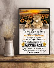 TO DAUGHTER - LION SUNFLOWER - NEVER FORGET THAT 16x24 Poster lifestyle-poster-3