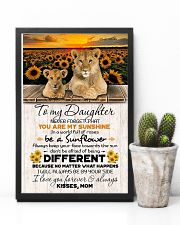 TO DAUGHTER - LION SUNFLOWER - NEVER FORGET THAT 16x24 Poster lifestyle-poster-8