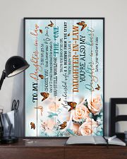 To My Daughter-in-law - Butterfly - The One 16x24 Poster lifestyle-poster-2
