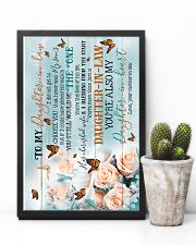 To My Daughter-in-law - Butterfly - The One 16x24 Poster lifestyle-poster-8