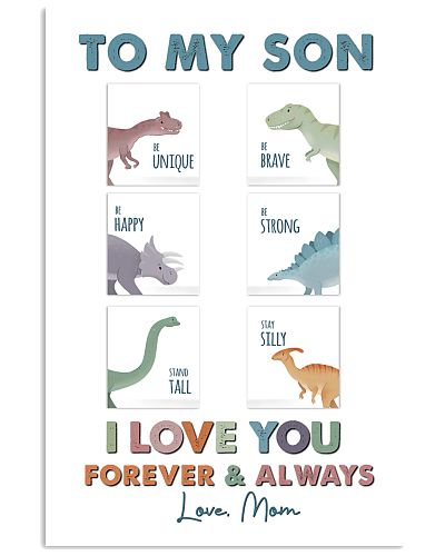 POSTER - TO MY SON - DINO - I LOVE YOU