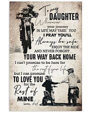 Daughter - Motorcycling - Wherever Your Journey  16x24 Poster front