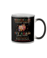 DAUGHTER-IN-LAW - HIPPIE - STRAIGHTEN YOUR CROWN Color Changing Mug thumbnail