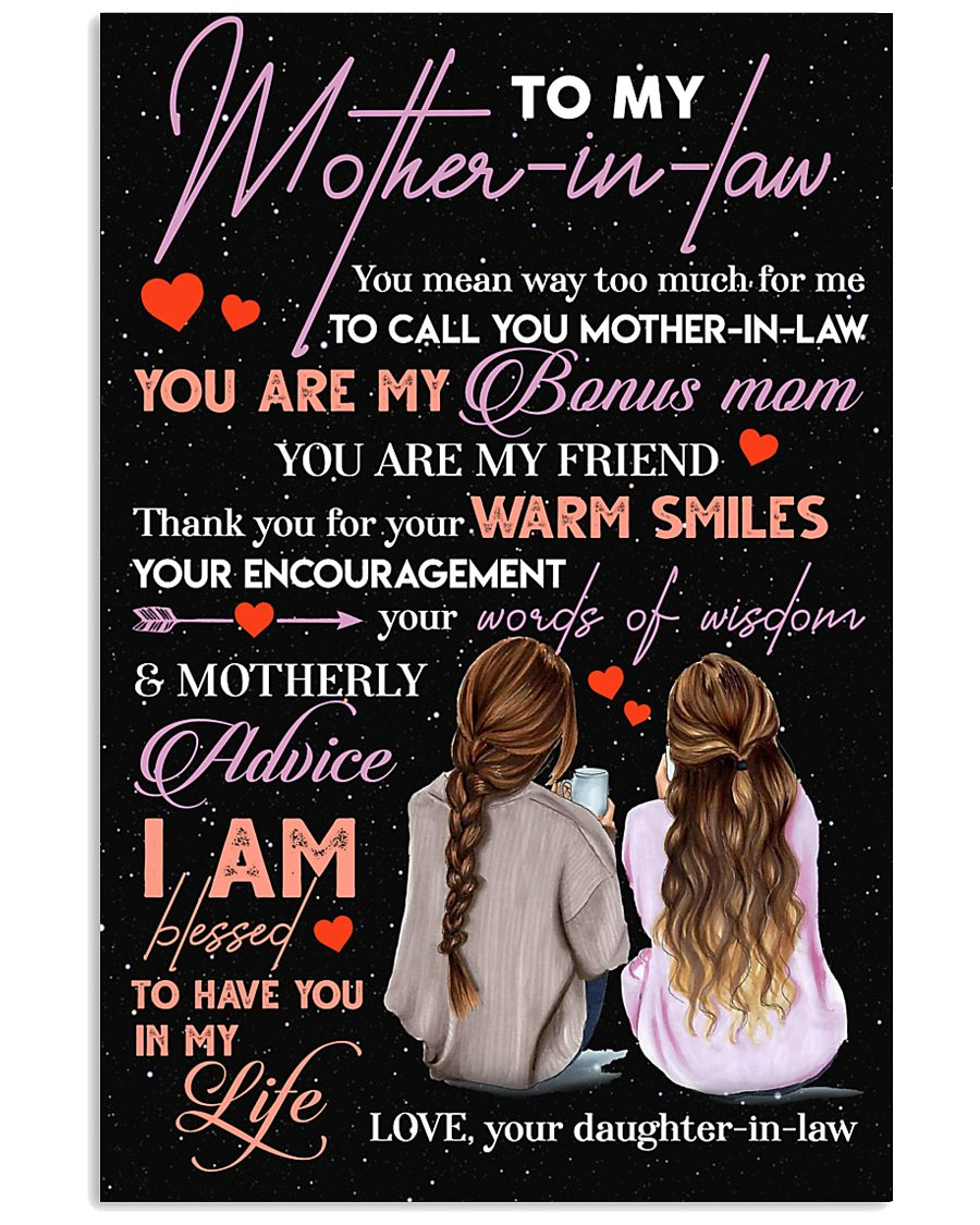 TO MY MOTHER-IN-LAW - THANK YOU 16x24 Poster