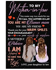 TO MY MOTHER-IN-LAW - THANK YOU 16x24 Poster front