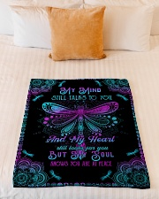 """Angel Husband - My Mind Still Talks To You Small Fleece Blanket - 30"""" x 40"""" aos-coral-fleece-blanket-30x40-lifestyle-front-04"""