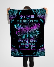 """Angel Husband - My Mind Still Talks To You Small Fleece Blanket - 30"""" x 40"""" aos-coral-fleece-blanket-30x40-lifestyle-front-14"""