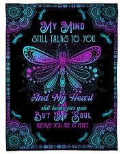 "Angel Husband - My Mind Still Talks To You Small Fleece Blanket - 30"" x 40"" front"