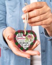 Grandchild to Grandma - Life Gave Me  Heart ornament - single (porcelain) aos-heart-ornament-single-porcelain-lifestyles-01