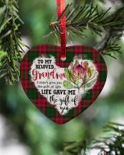 Grandchild to Grandma - Life Gave Me  Heart ornament - single (porcelain) aos-heart-ornament-single-porcelain-lifestyles-07