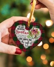 Grandchild to Grandma - Life Gave Me  Heart ornament - single (porcelain) aos-heart-ornament-single-porcelain-lifestyles-08