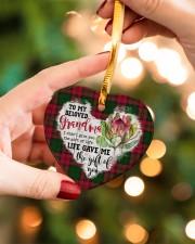 Grandchild to Grandma - Life Gave Me  Heart ornament - single (porcelain) aos-heart-ornament-single-porcelain-lifestyles-09