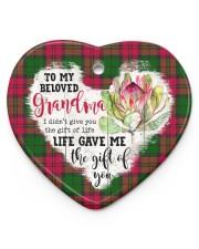Grandchild to Grandma - Life Gave Me  Heart ornament - single (porcelain) front
