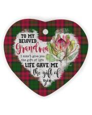 Grandchild to Grandma - Life Gave Me  Heart ornament - single (wood) thumbnail