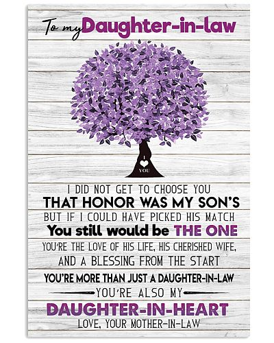 TO MY DAUGHTER-IN-LAW - FAMILY TREE - BE THE ONE