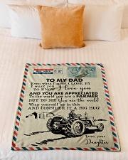 "To My Dad - Farmer - Fleece Blanket   Small Fleece Blanket - 30"" x 40"" aos-coral-fleece-blanket-30x40-lifestyle-front-04"