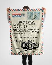 "To My Dad - Farmer - Fleece Blanket   Small Fleece Blanket - 30"" x 40"" aos-coral-fleece-blanket-30x40-lifestyle-front-14"