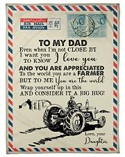"To My Dad - Farmer - Fleece Blanket   Small Fleece Blanket - 30"" x 40"" front"