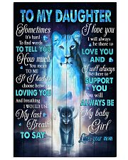 To My daughter - Lioness - Sometimes It's Hard  16x24 Poster front