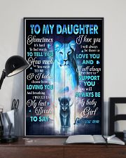 To My daughter - Lioness - Sometimes It's Hard  16x24 Poster lifestyle-poster-2
