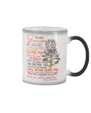TO MY FIANCÉE - KING PROTEA - I LOVE YOU Color Changing Mug thumbnail