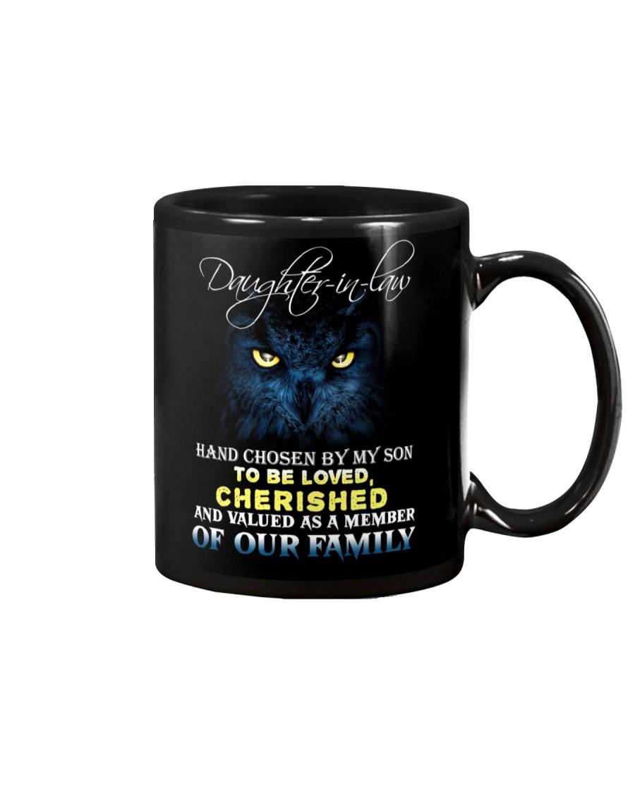 DAUGHTER-IN-LAW - OWL - HAND CHOSEN BY MY SON Mug