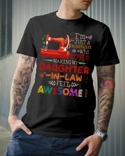 I'M JUST A WOMAN Classic T-Shirt lifestyle-mens-crewneck-front-6