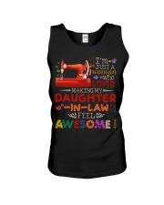 I'M JUST A WOMAN Unisex Tank tile