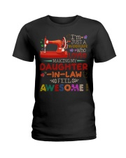 I'M JUST A WOMAN Ladies T-Shirt tile