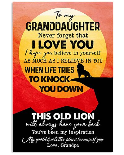 TO GRANDDAUGHTER - LION - INSPIRATION
